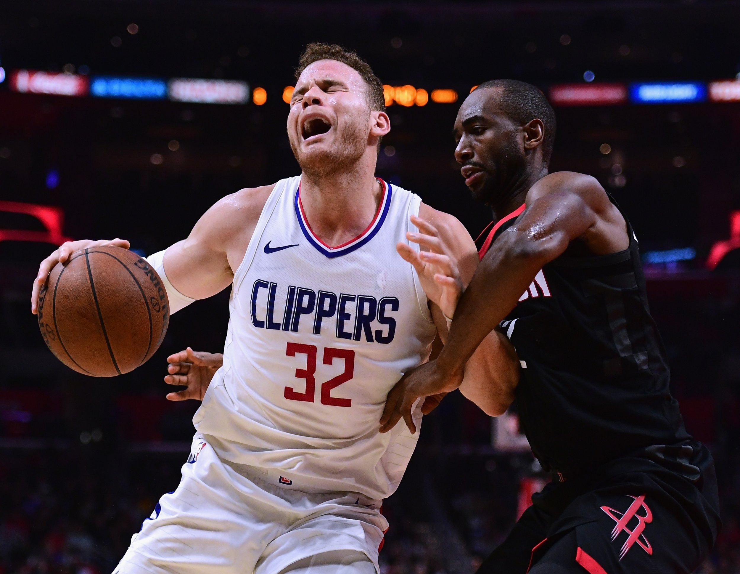 L.A. Clippers forward Blake Griffin, left.