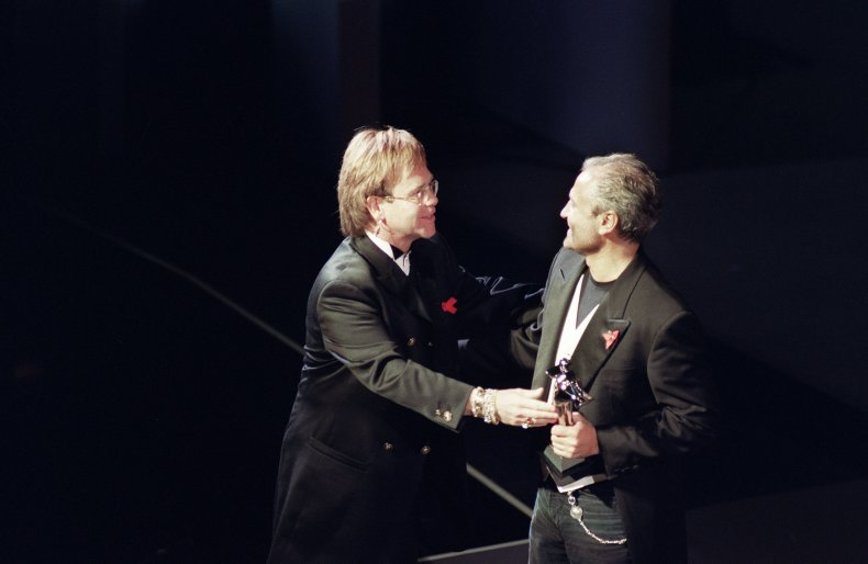 Gianni Versace receives award in 1993