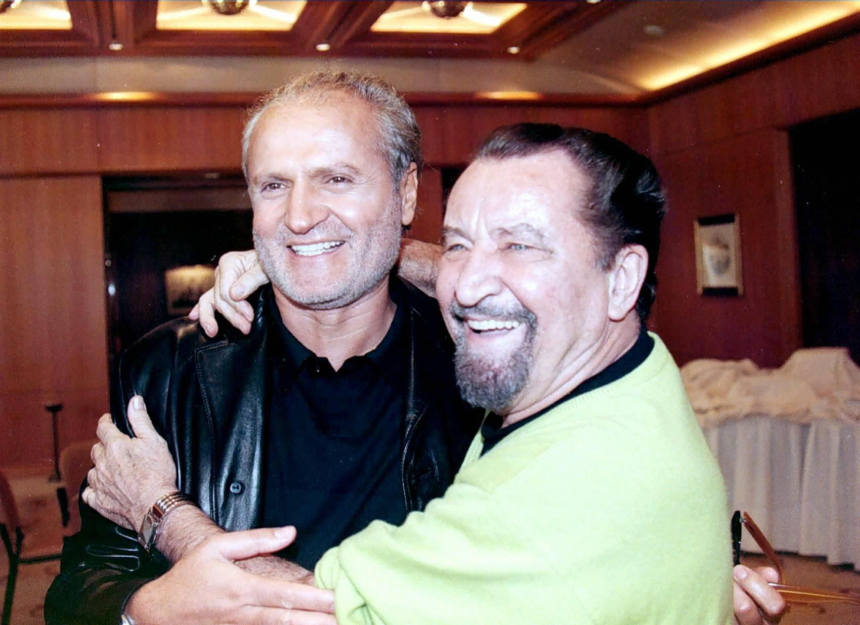 Gianni Versace with French choreographer Maurice Bejart