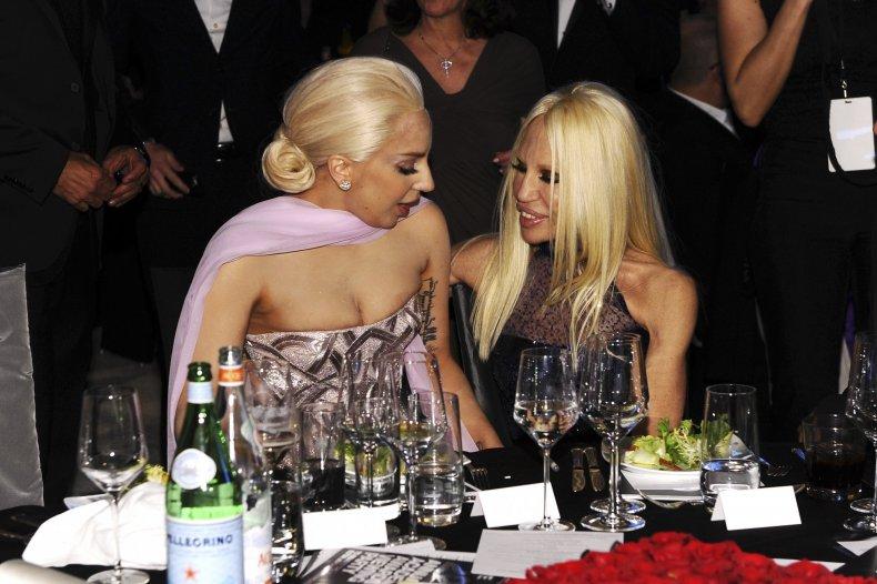 Donatella Versace with Lady Gaga