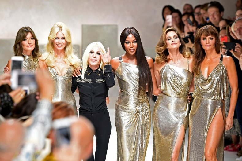 Donatella Versace and models mark 20th anniversary of Gianni Versace death