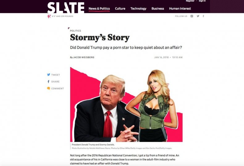 Slate's Jacob Weisberg writes about conversations with Stormy Daniels