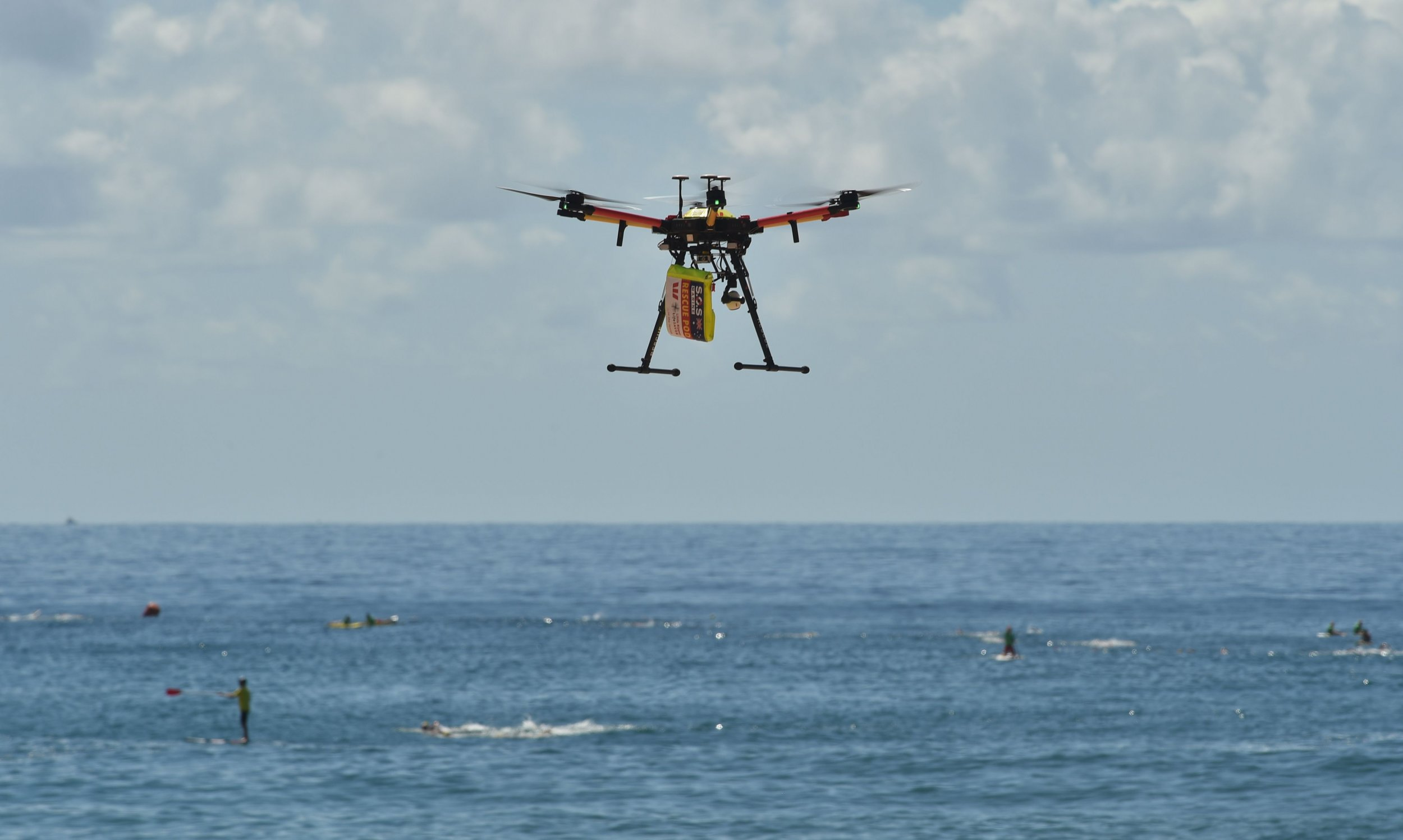 Watch A Drone Help Save The Lives Of Australian Swimmers