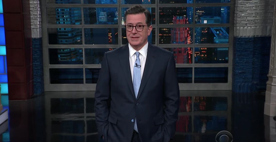 Colbert jokes about Trump spanking