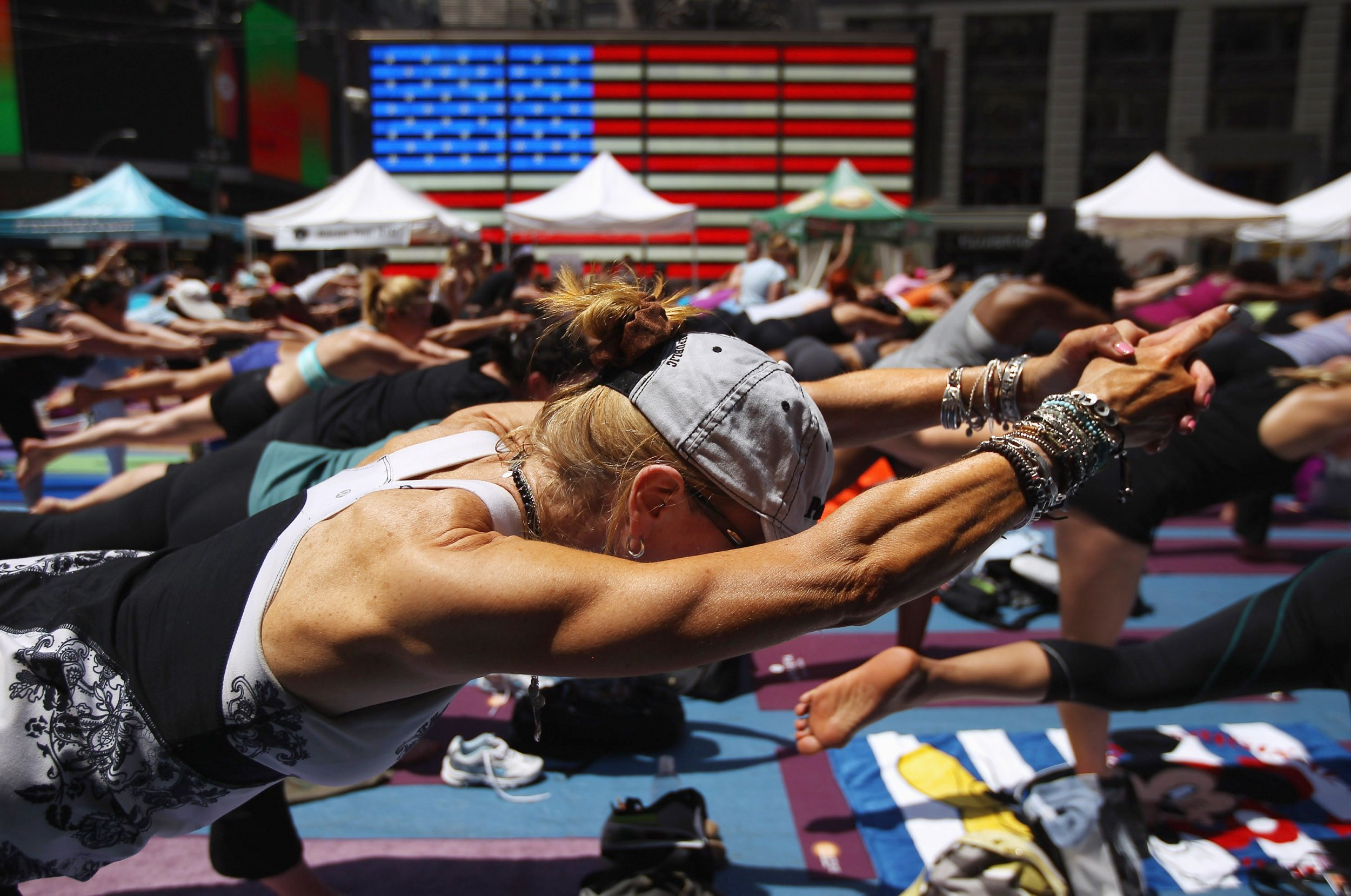 bikram yoga in Times Square