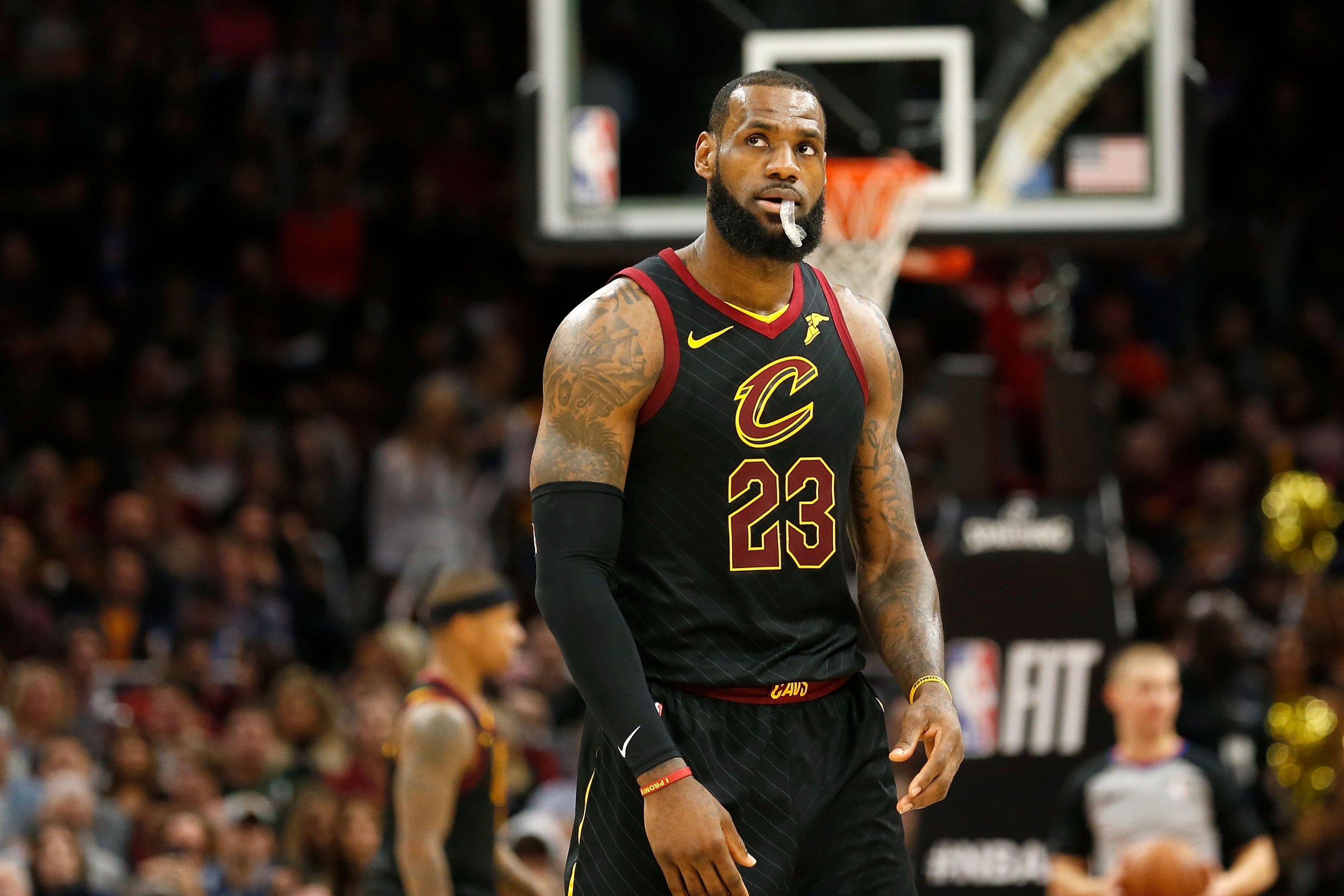 Cleveland Cavaliers star forward LeBron James.
