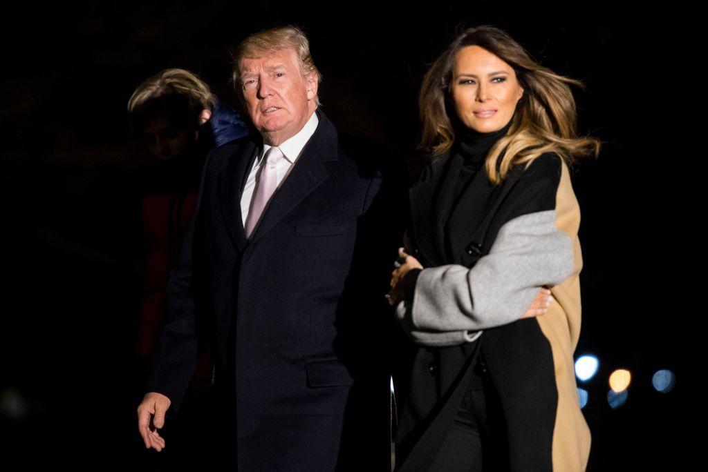 Trump And Melania Wedding.On Wedding Anniversary Melania Trump Cancels Trip With President To