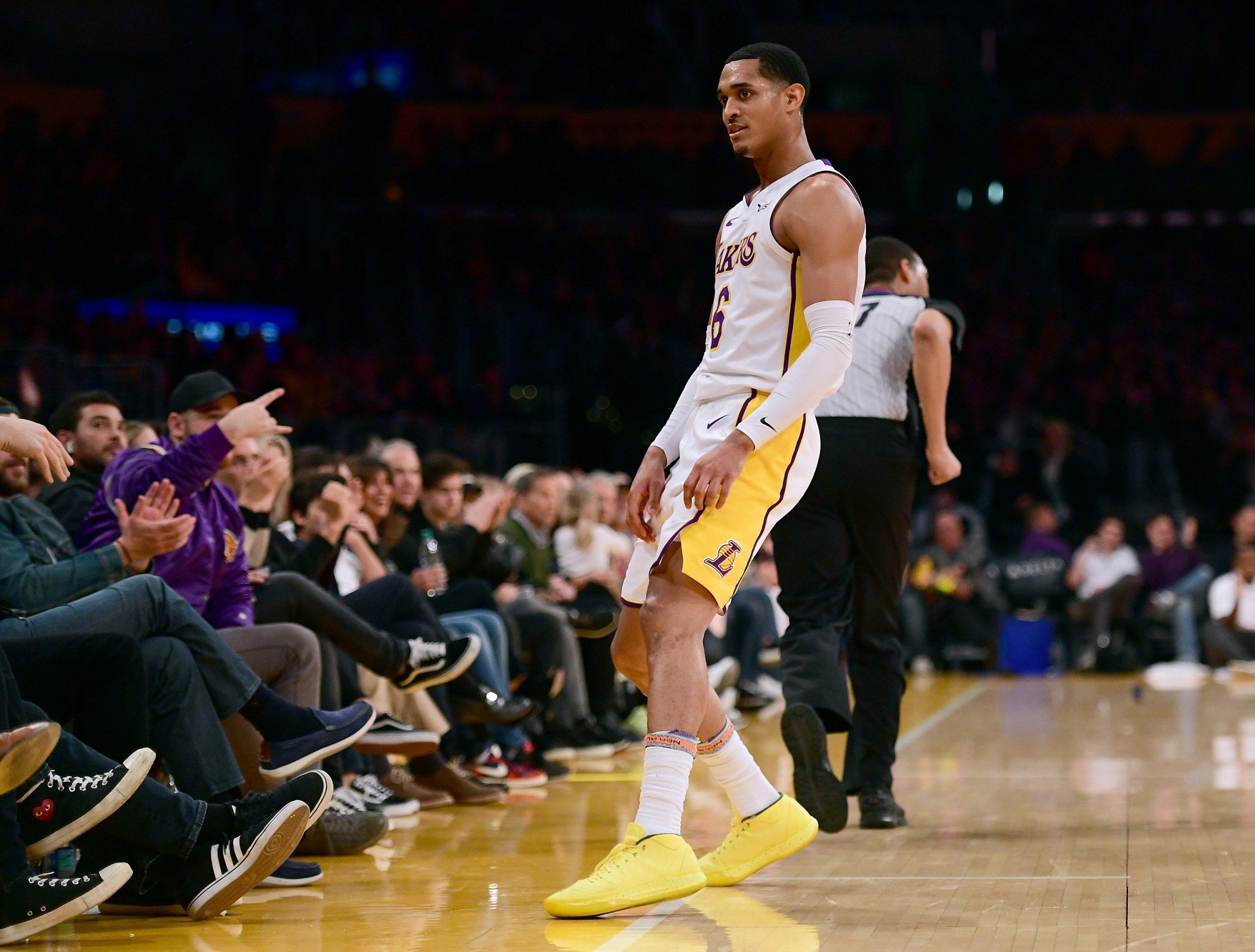 Lakers guard Jordan Clarkson.