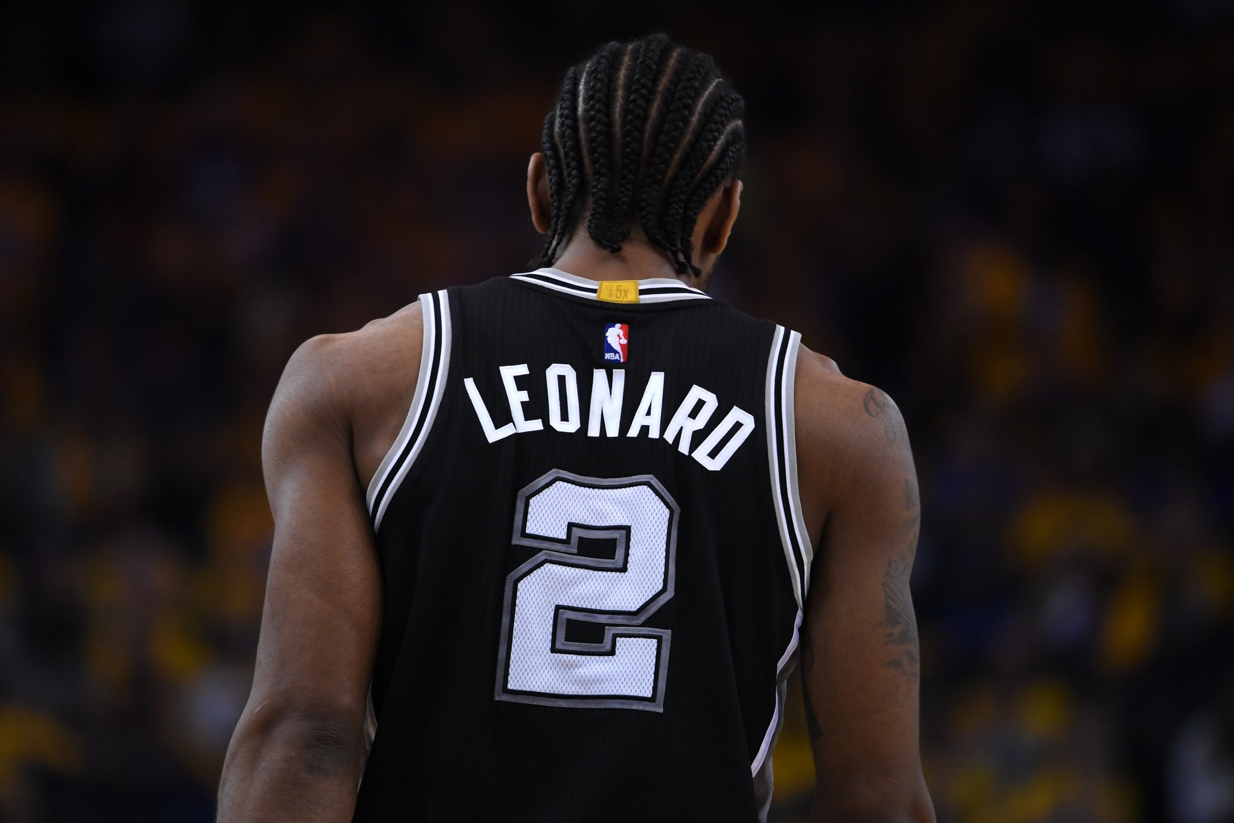 San Antonio Spurs forward Kawhi Leonard.