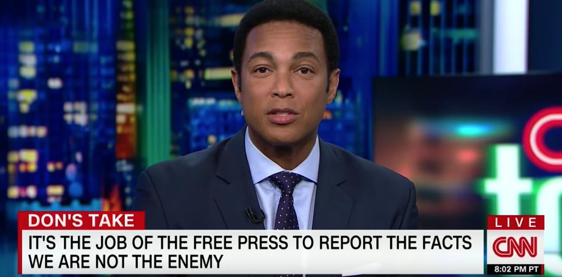 Don Lemon slams Trump after CNN receives death threats