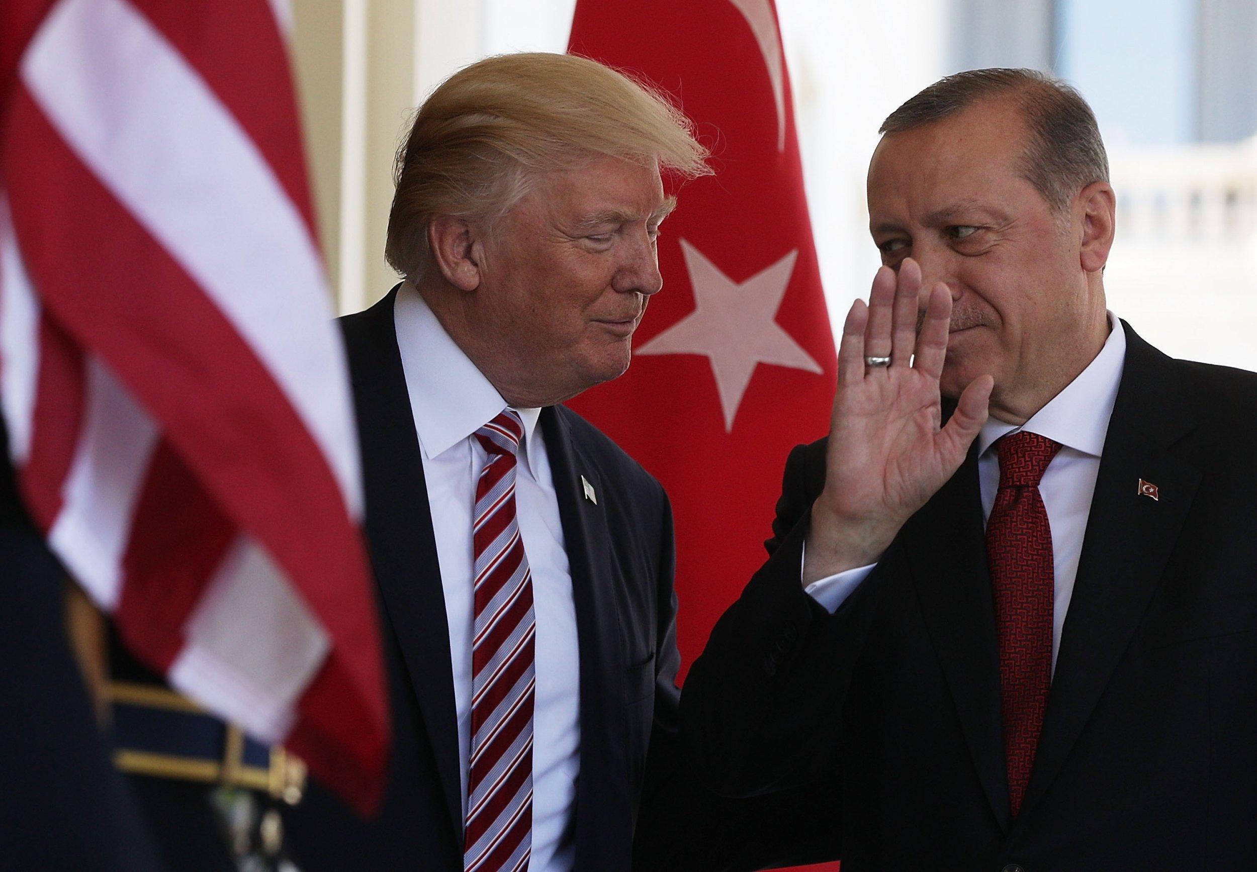 Erdogan urged US authorities to change their attitude towards Turkey, threatening to seek new allies 0125trumperdogan