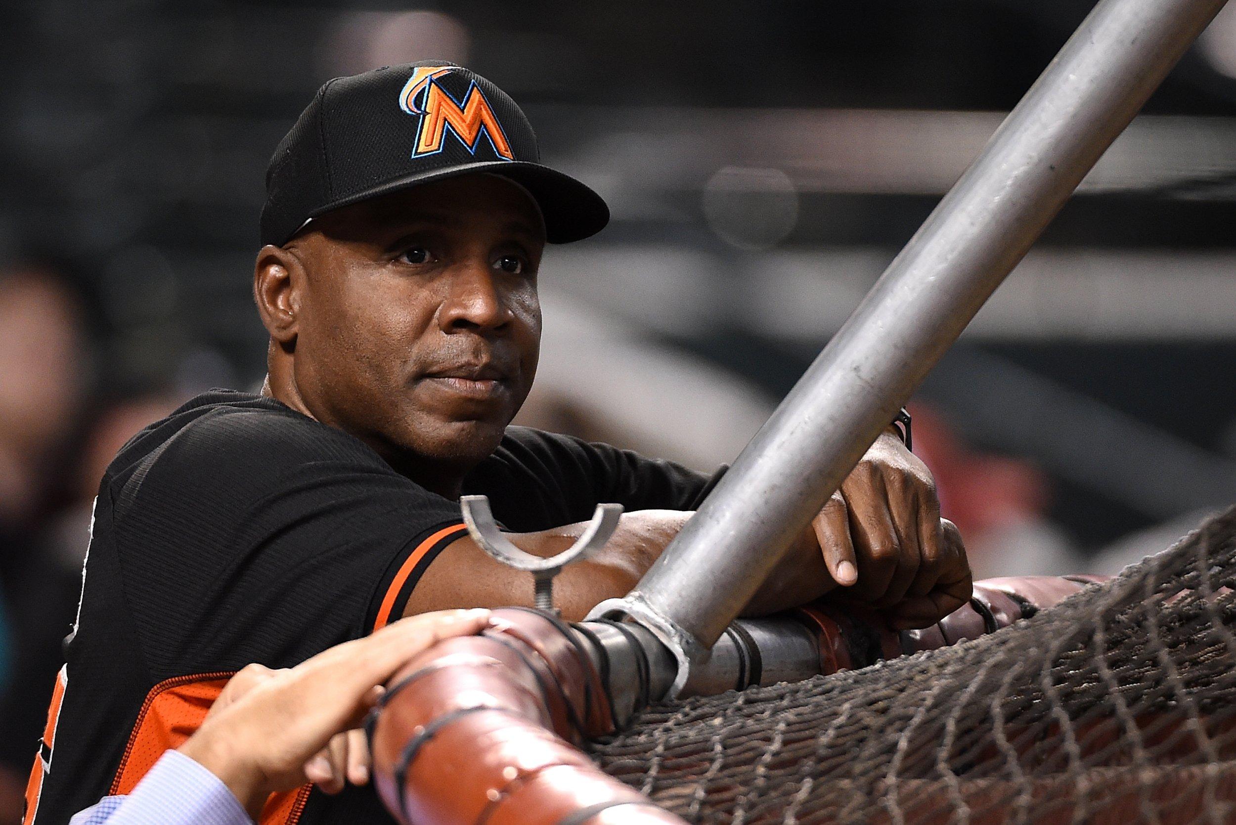 Former Miami Marlins hitting coach Barry Bonds.