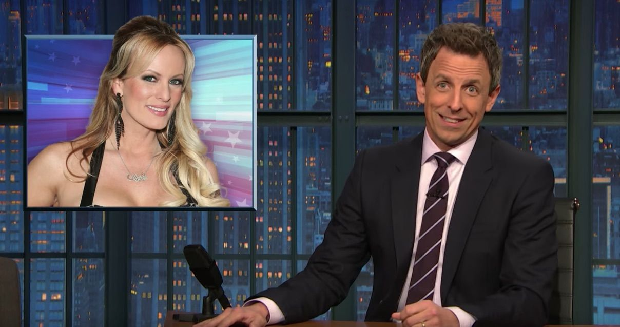 Seth Meyers rips right-wing hypocrisy over Trump and Stormy Daniels