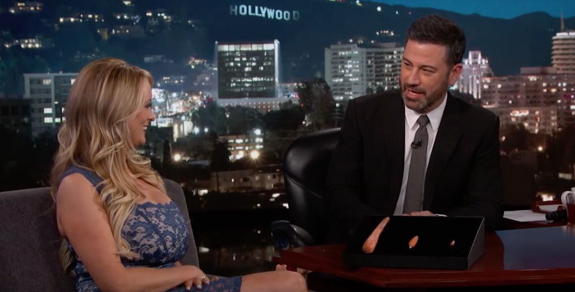 Stormy Daniels on Kimmel