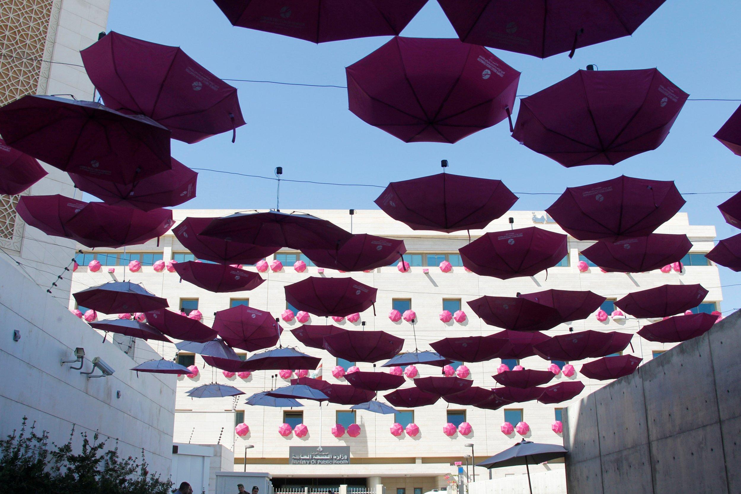 breast cancer awareness umbrellas