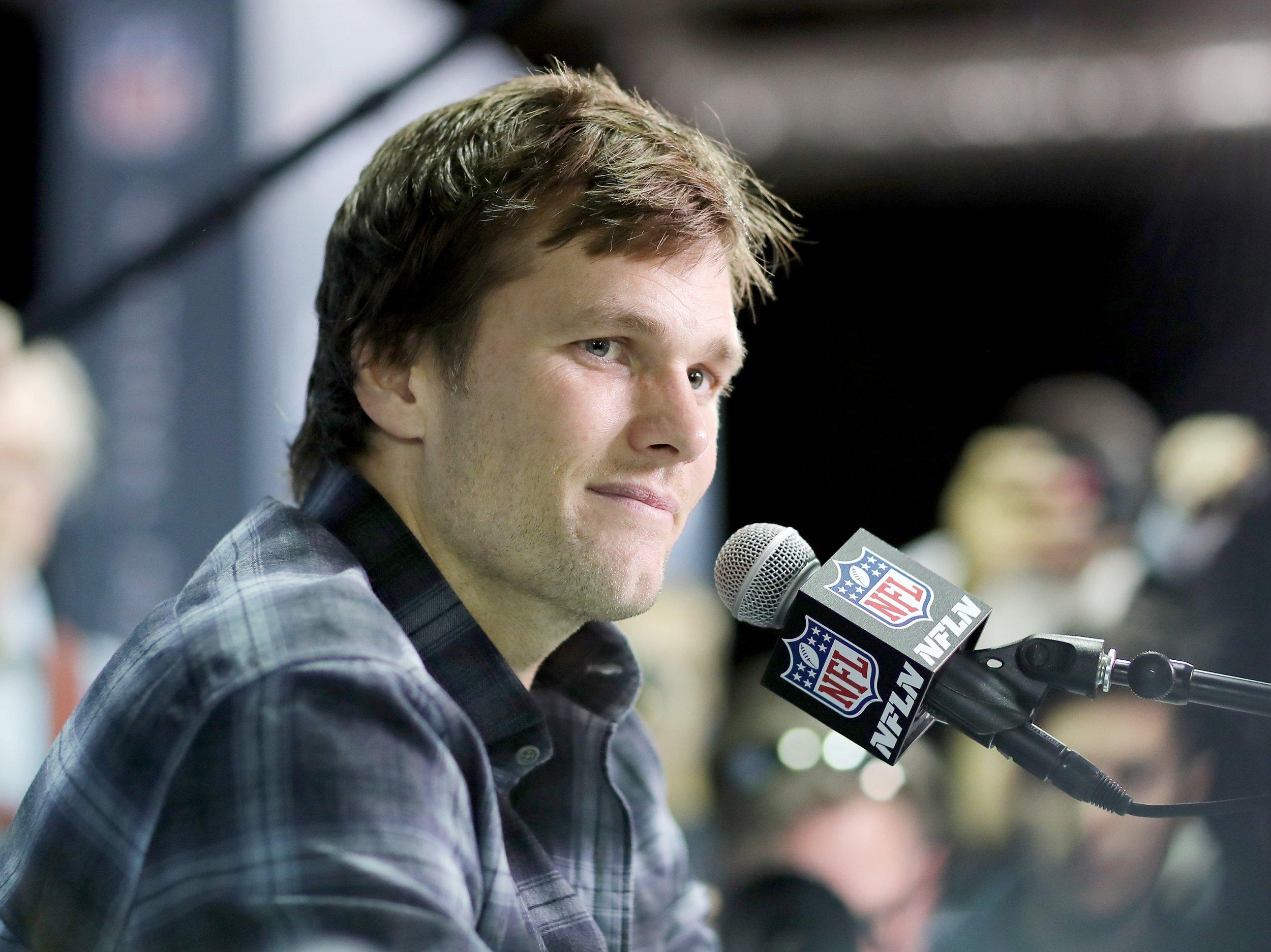 Tom Brady of the New England Patriots in Bloomington, Minnesota, February 1.