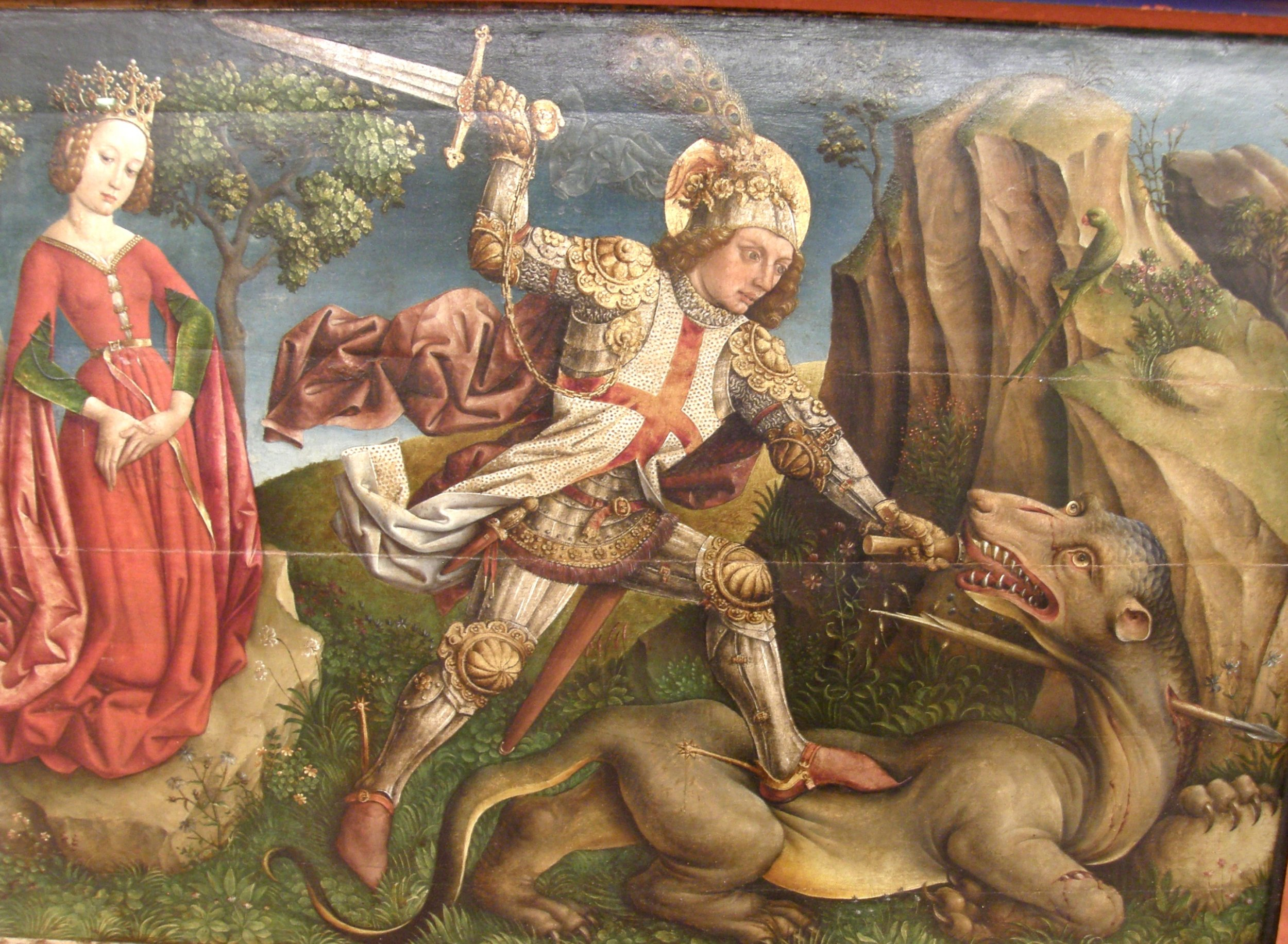 Jost_Haller _-_ Saint_George_slaying_the_dragon, _Unterlinden_Museum, _Colmar