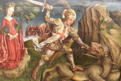 Jost_Haller_-_Saint_George_slaying_the_dragon,_Unterlinden_Museum,_Colmar