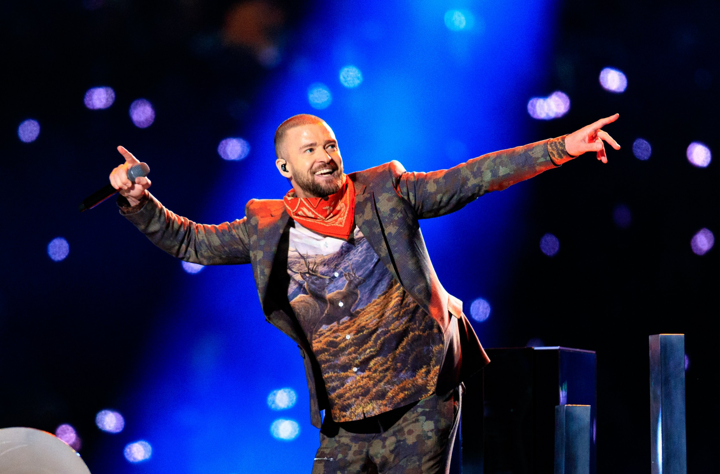 Justin Timberlake performs at Super Bowl LII