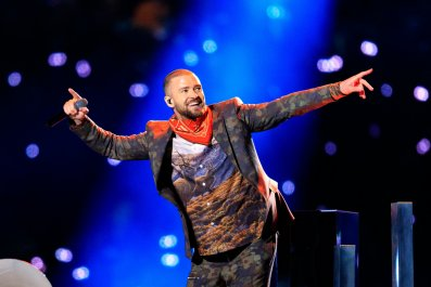 Justin Timberlake performs at Super Bowl LII