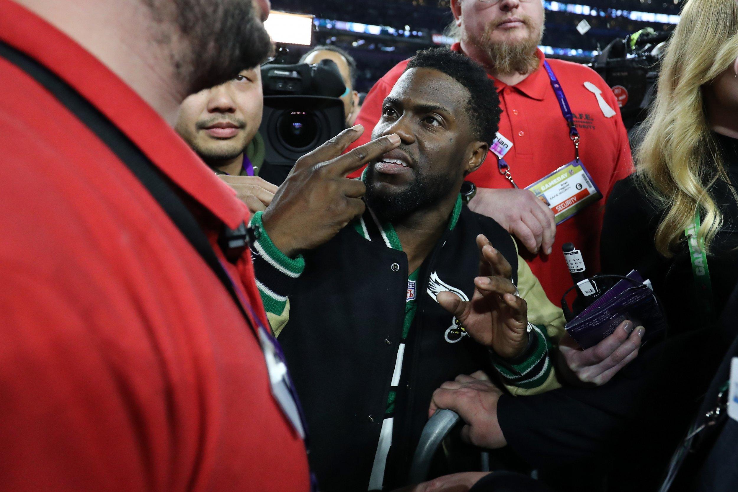 Kevin Hart got drunk at the Super Bowl