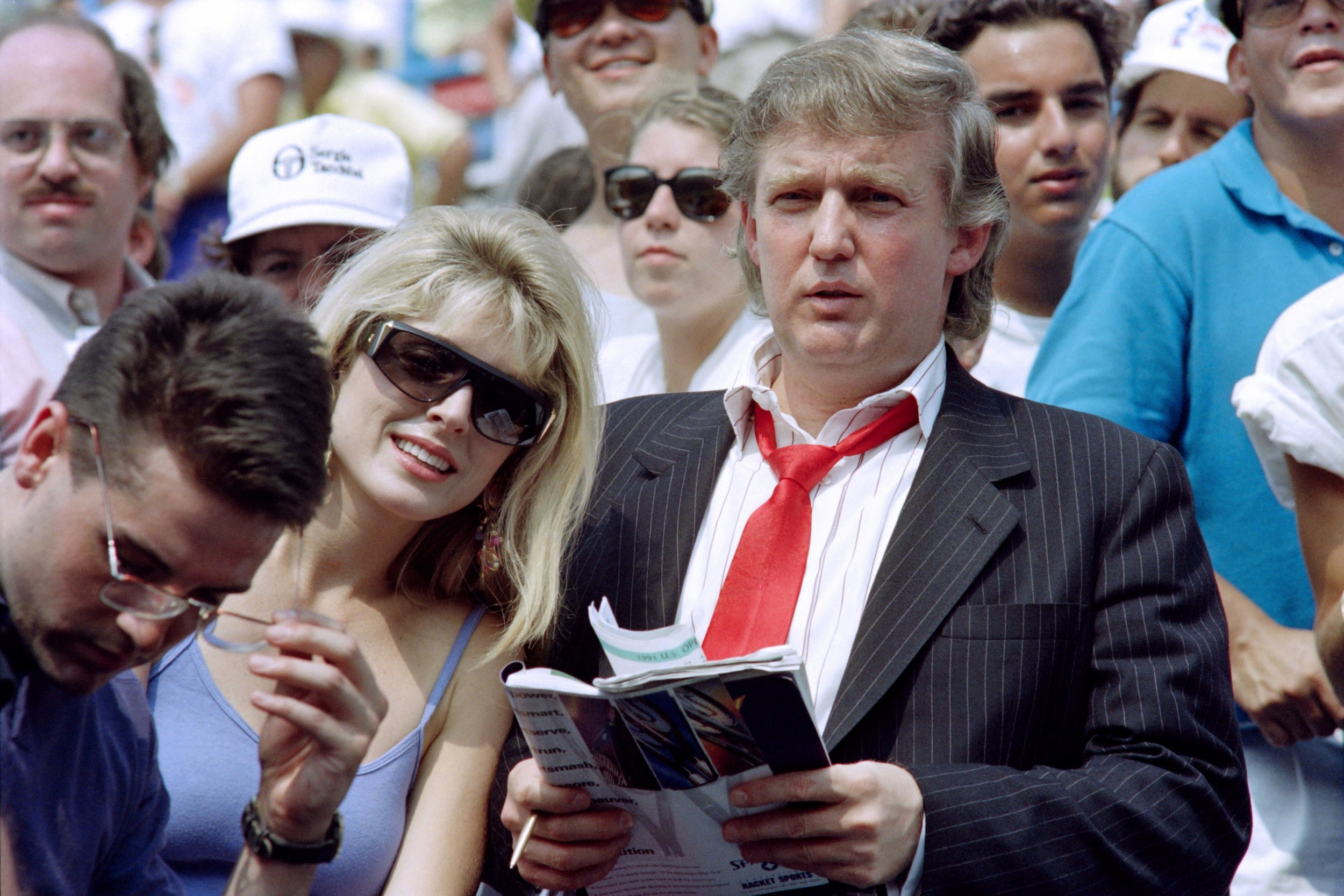 Marla Maples and Donald Trump in 1991