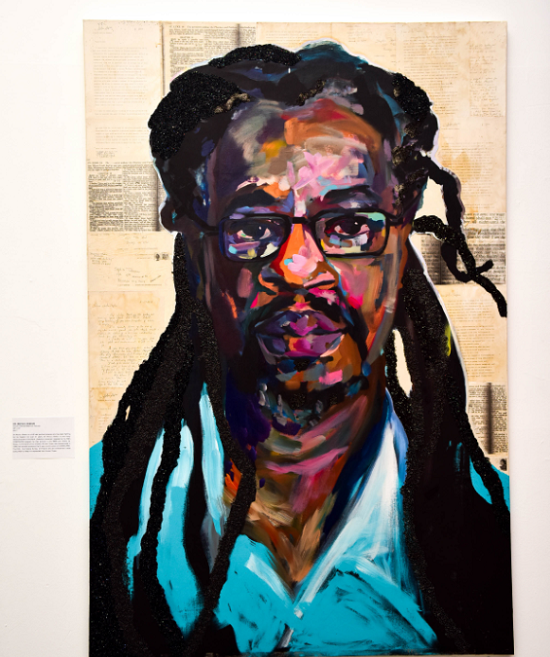 Sophia Dawson portrait of Dr. Mutulu Shakur