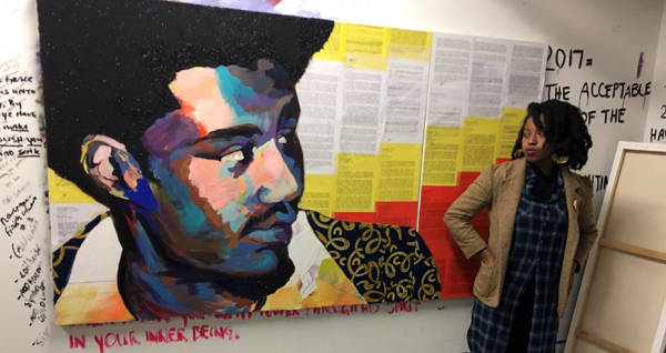 Artist Sophia Dawson Uses Black History Month to tell the Story of Political Prisoners