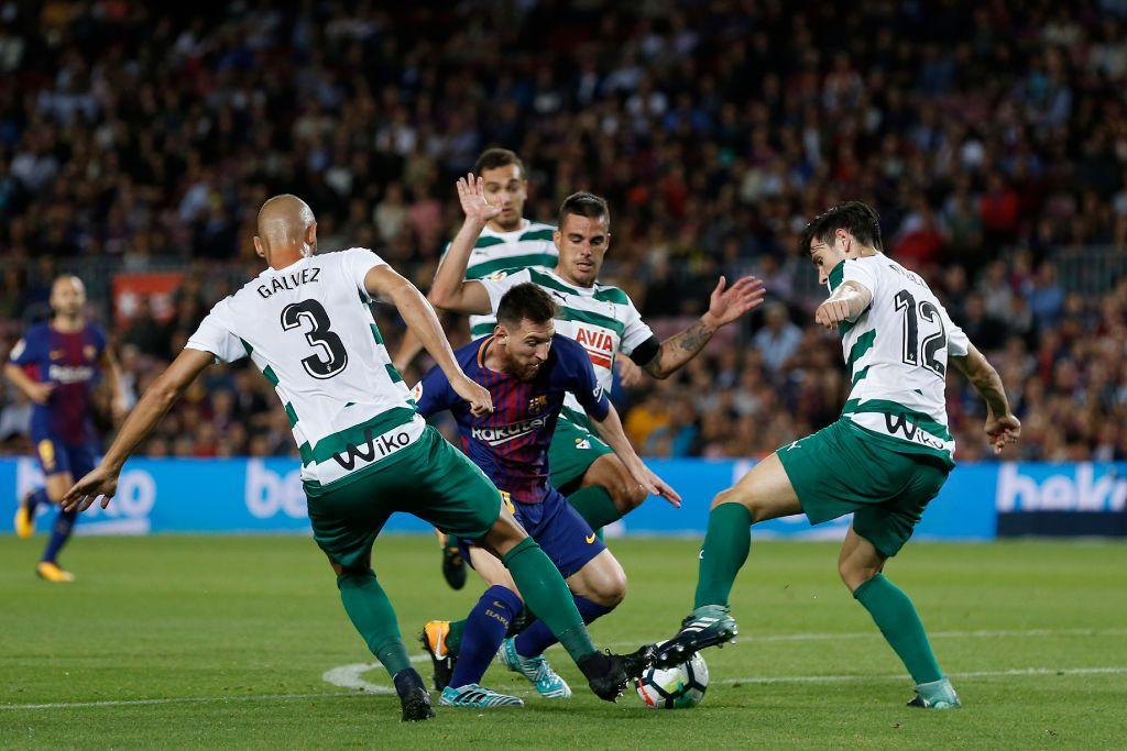 Eibar take on Lionel Messi