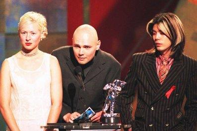 Smashing Pumpkins: Billy Corgan, D'Arcy Wretzky and James Iha
