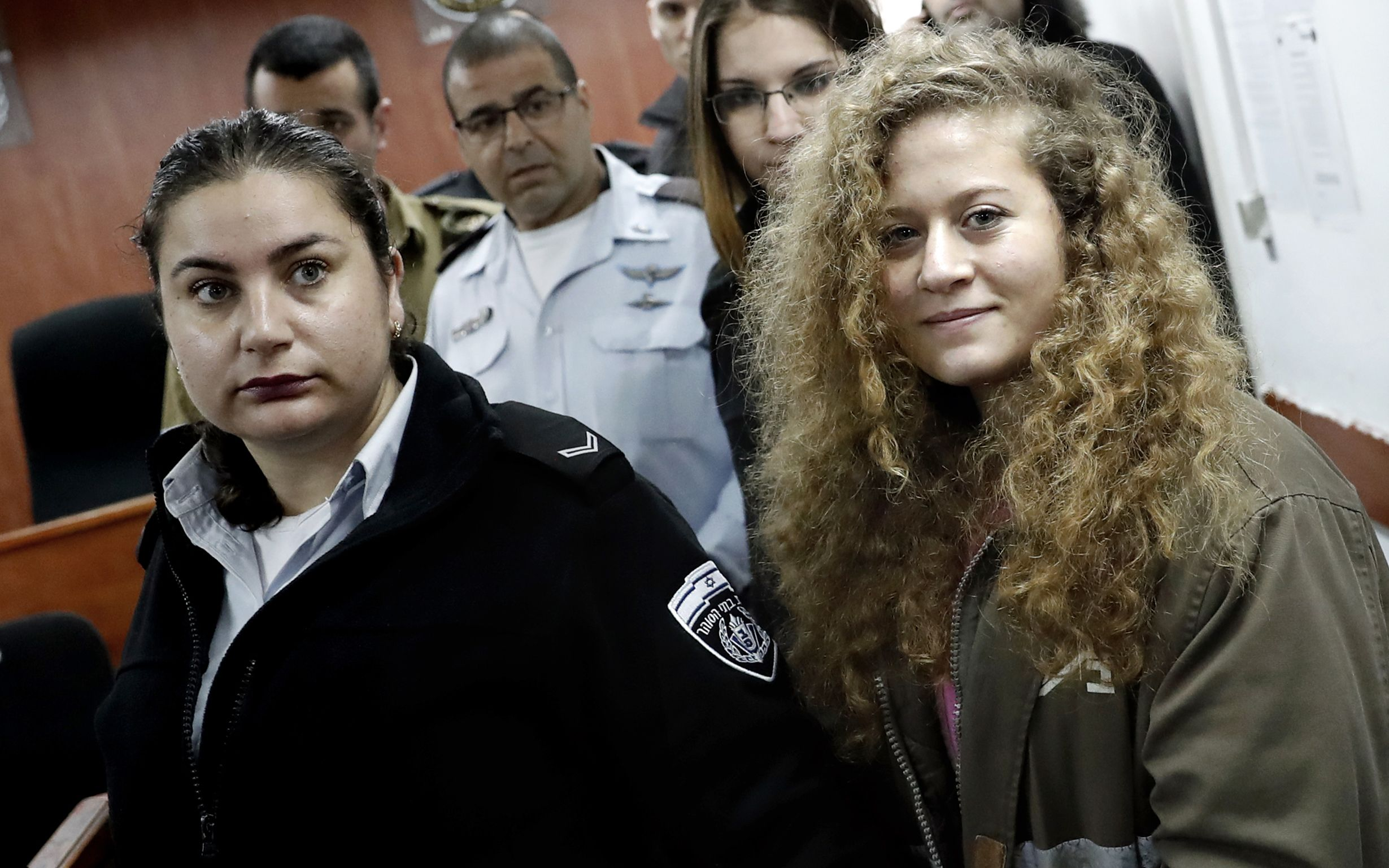 The girl faces 10 years in prison for slapping an Israeli soldier in the West Bank