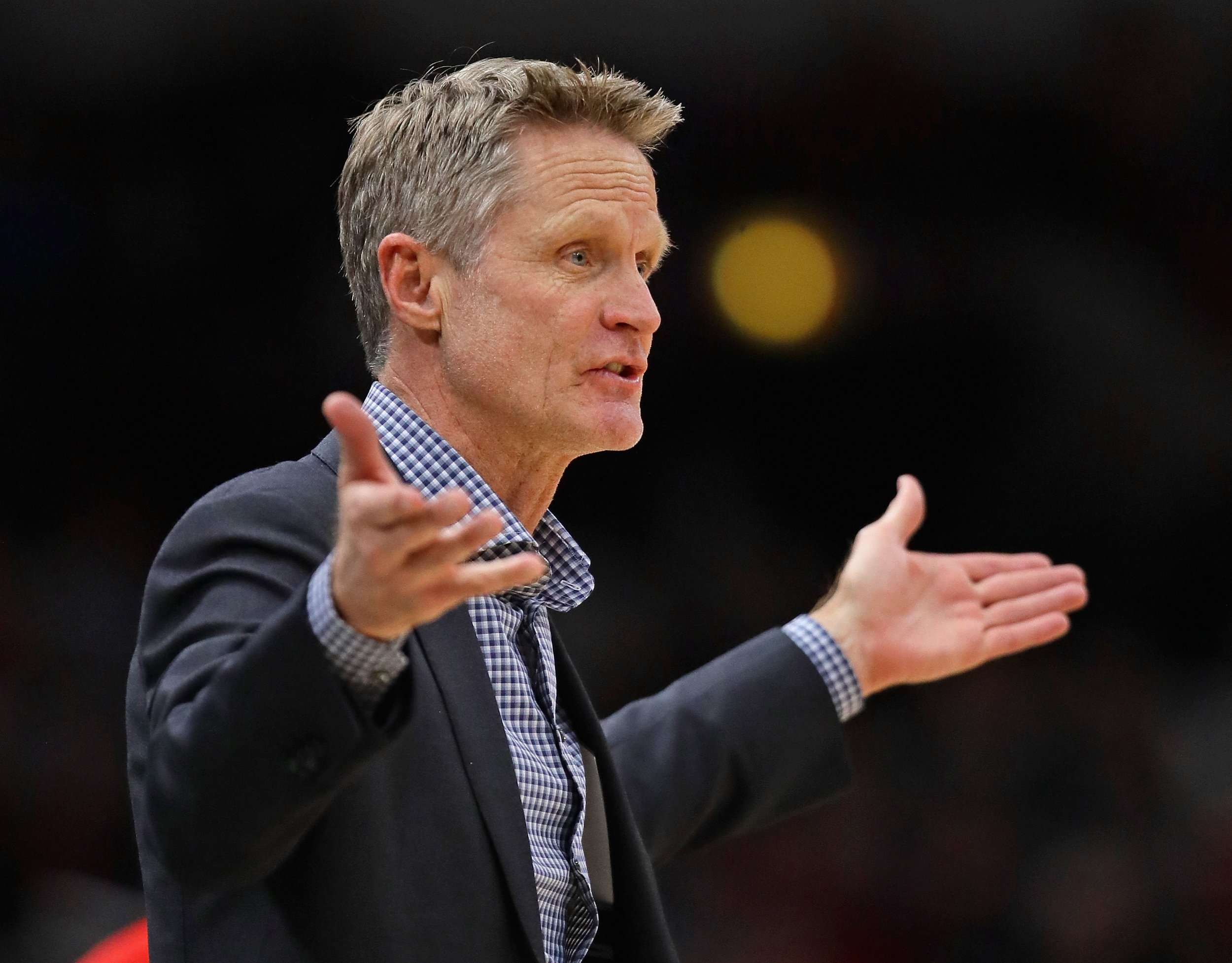 Golden State Warriors head coach Steve Kerr.