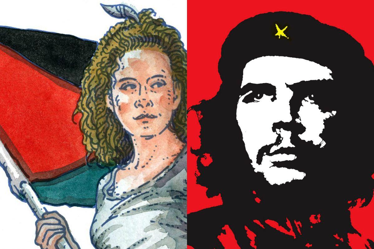 Jim Fitzpatrick's Ahed Tamimi print and Che Guevara print