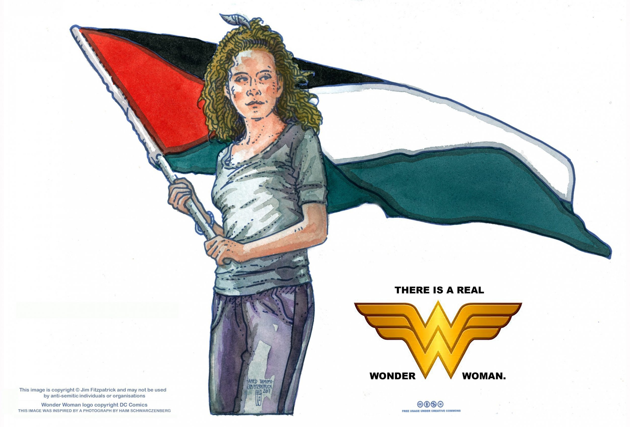"Ahed Tamimi, ""the real Wonder Woman"