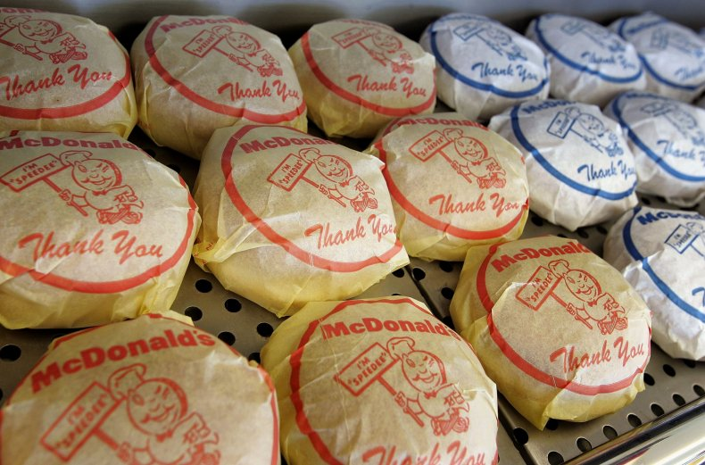 McDonald's cheeseburger