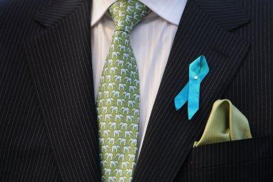 ovarian cancer ribbon man