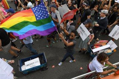 LA Pride 2017 Resist march