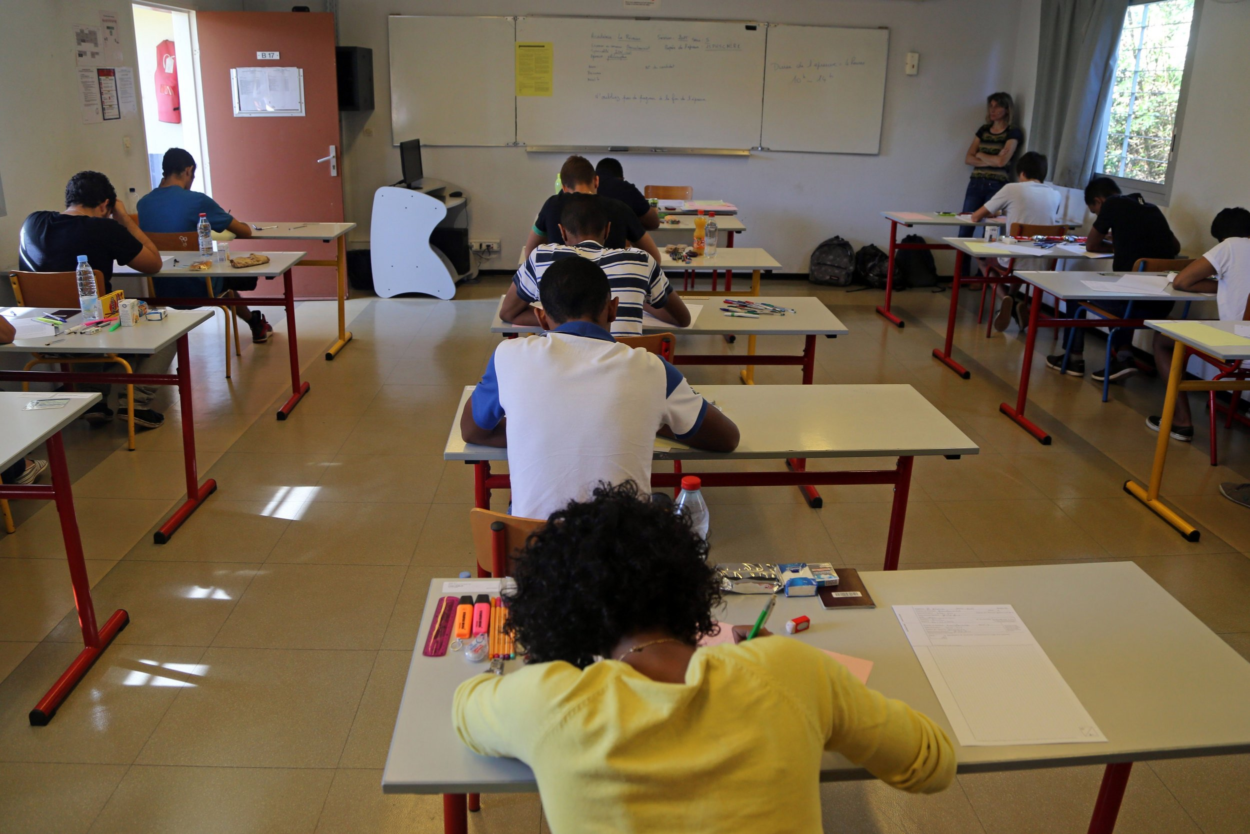 School classroom in Reunion, French Island in the Indian Ocean