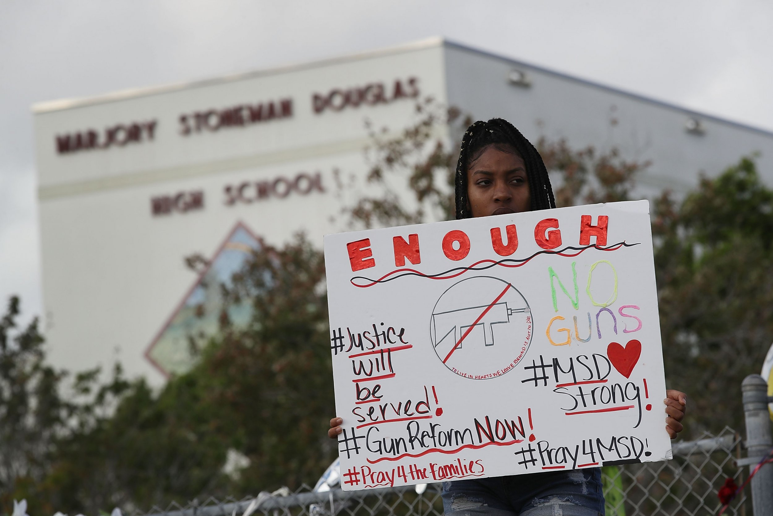 After Florida shooting, support for stricter gun control laws reaches new high in poll