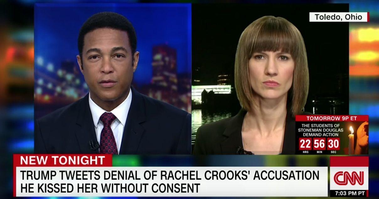 Trump accuser Rachel Crooks on CNN