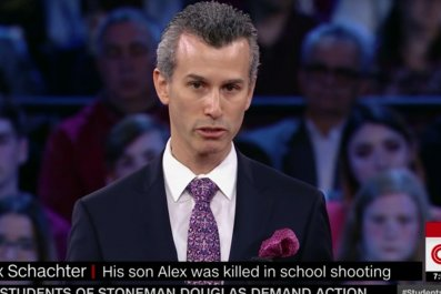 Alex Schachter's father reads poem by Florida shooting victim