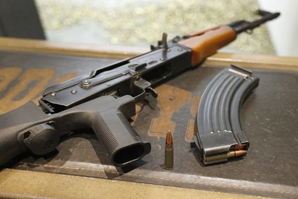 34b29b013085a An AK-47 with a bump stock installed at Good Guys Gun and Range on February  21 in Orem, Utah. The bump stock is a device that allows a semi-automatic  to ...