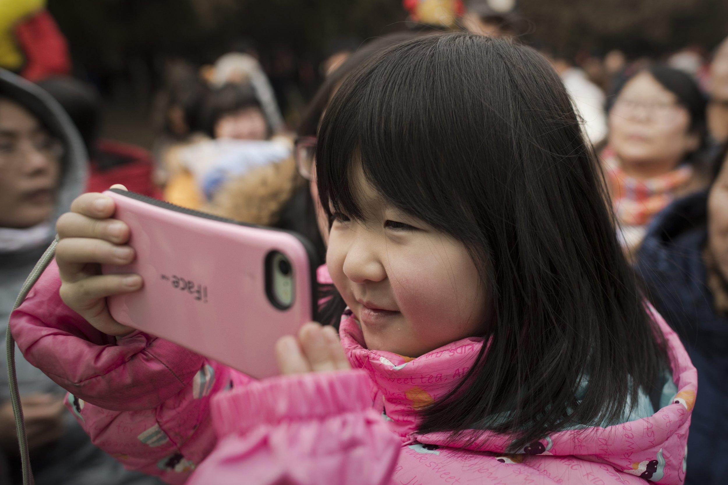china girl cellphone