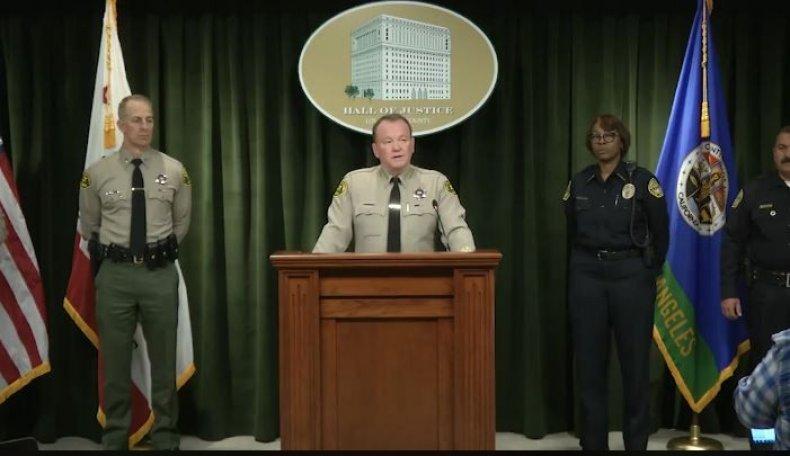 teacher Los Angeles County Sheriff Jim McDonnell
