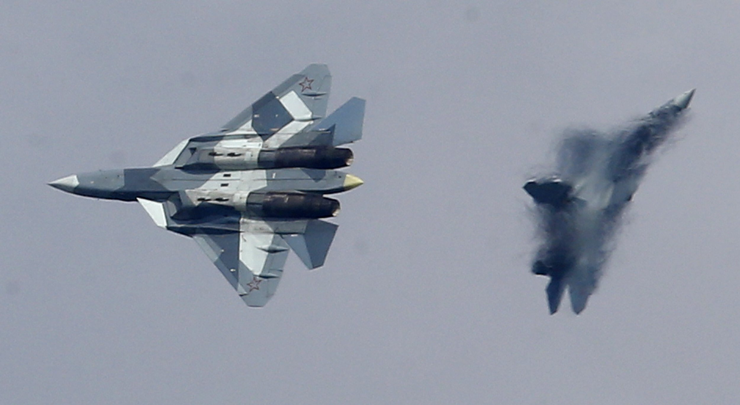 New Russian Su 57 Stealth Jets Deployed To Syria Despite Putin Images, Photos, Reviews