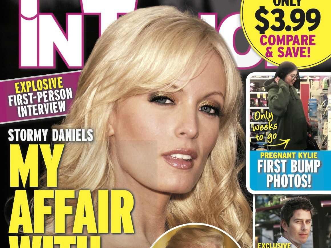 The famous 'In Touch' cover featuring Stormy Daniels