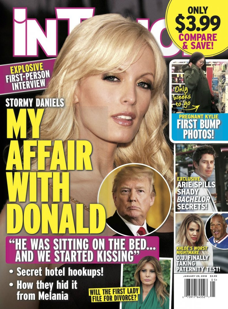 Stormy Daniels on cover of 'In Touch Weekly'