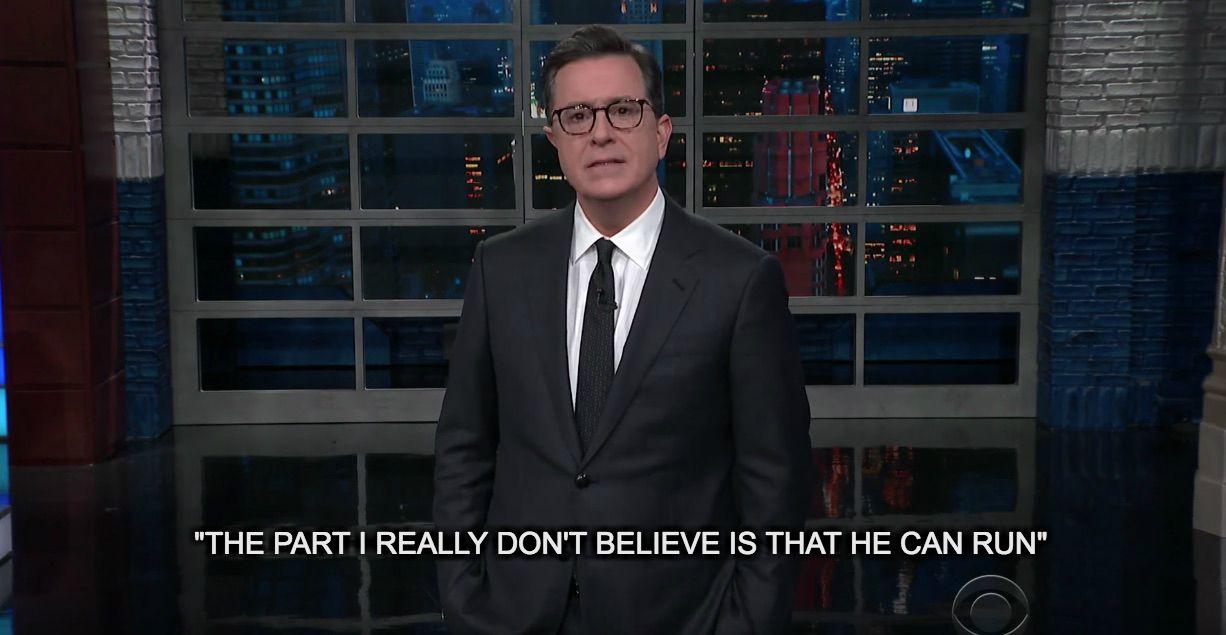 Colbert mocks Trump, Ivanka