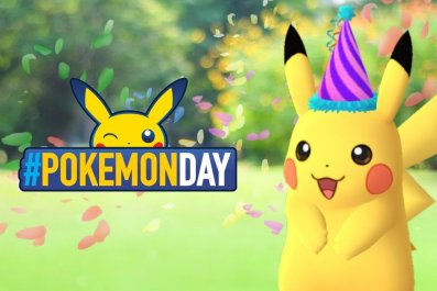 party hat pikachu pokemon go day