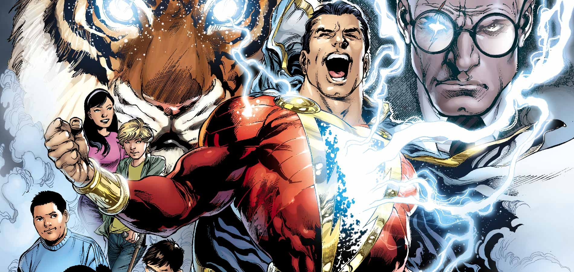 shazam cover dc comics